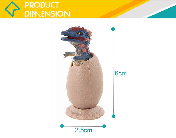 Realistic TPR animal kids mini soft rubber dinosaur toy with egg