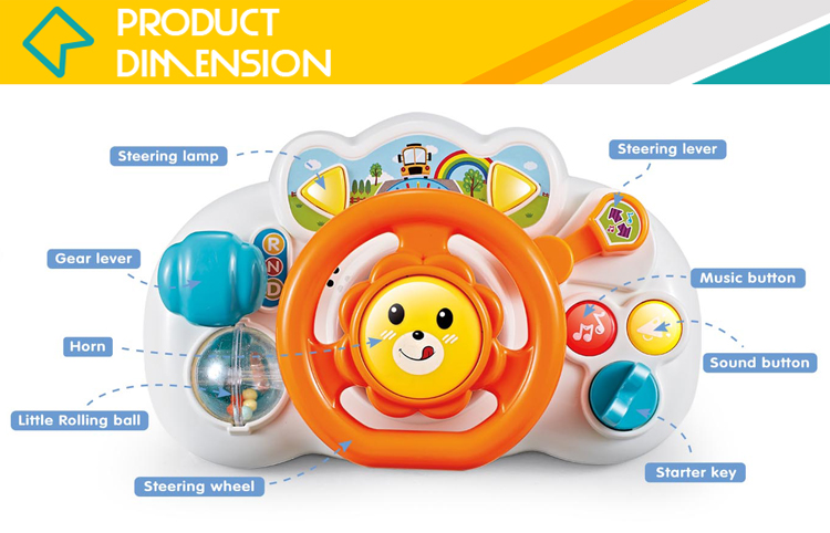 Interactive musical educational baby learning toys with light
