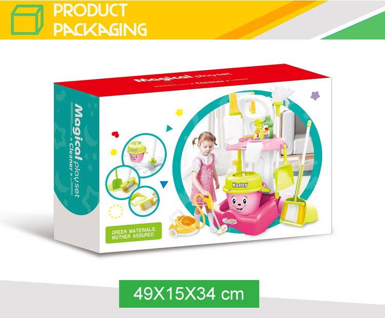 Hot sale house keeing cleaning set toy vacuum cleaner for girls