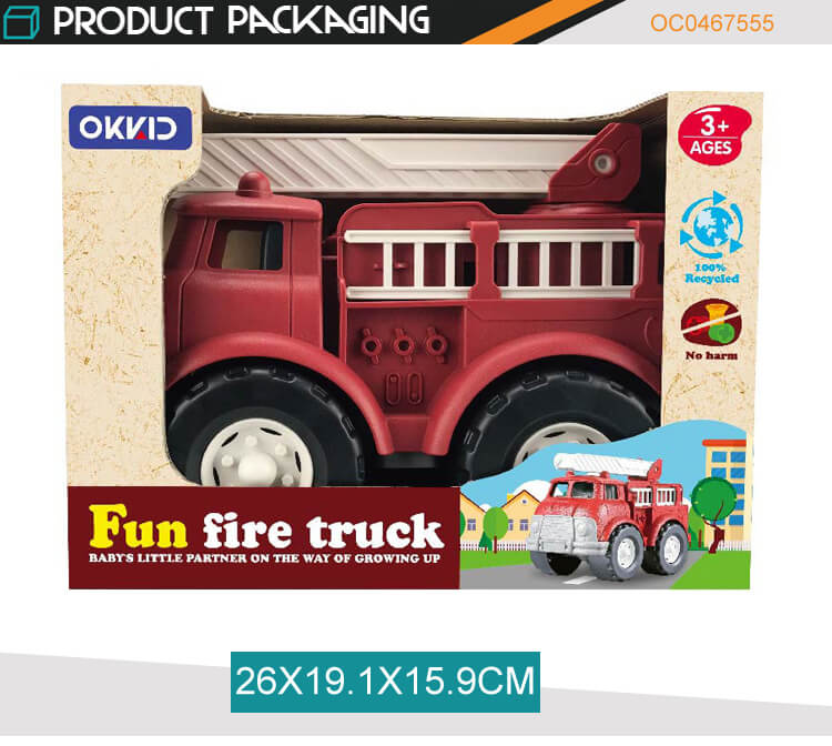 Manufacturer new friction vehicle fire truck slide car toy for kids