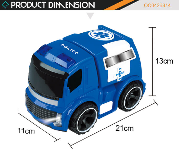 2020 New item Good quality cheap friction toy police toy cars