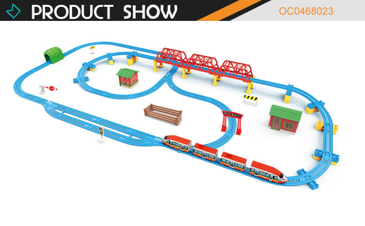 Rail train tracks toys electric high speed with light music for kids