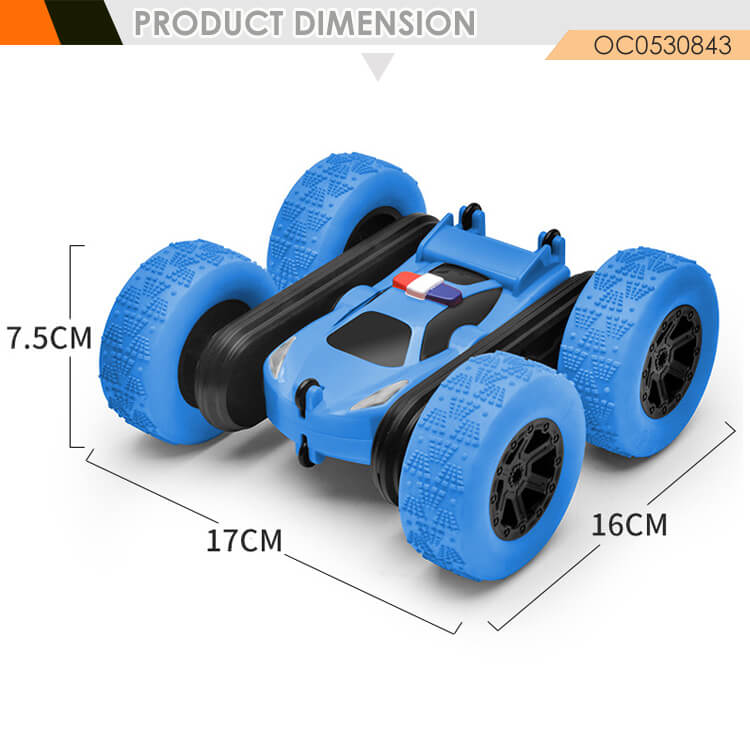 newest 2.4g spray mist double sided rc stunt car for kids with light music