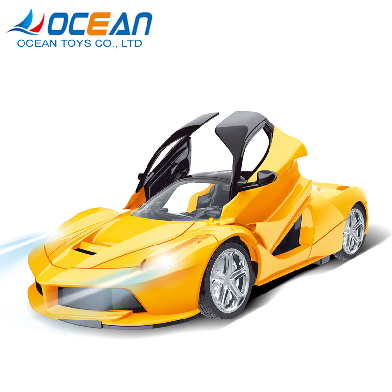 Boys popular door-opening sports car 5ch 2.4 ghz rc car 1:18 with light