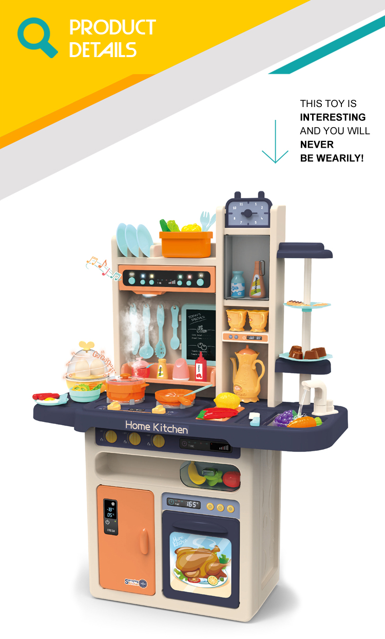 Pretend play kids cooking appliances big kitchen set toys with sound