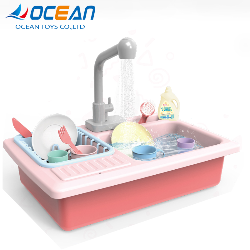 Sale pretend cleaning dishes playset kitchen sink toy for toddlers