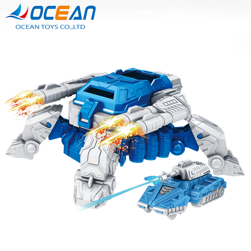 Educational Kit Kids Deformation Transform Baby Boy Toys Robot With 3 Cars
