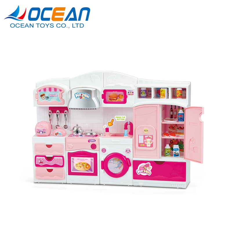 Girls pretend kids cooking appliances toys play kitchen with music