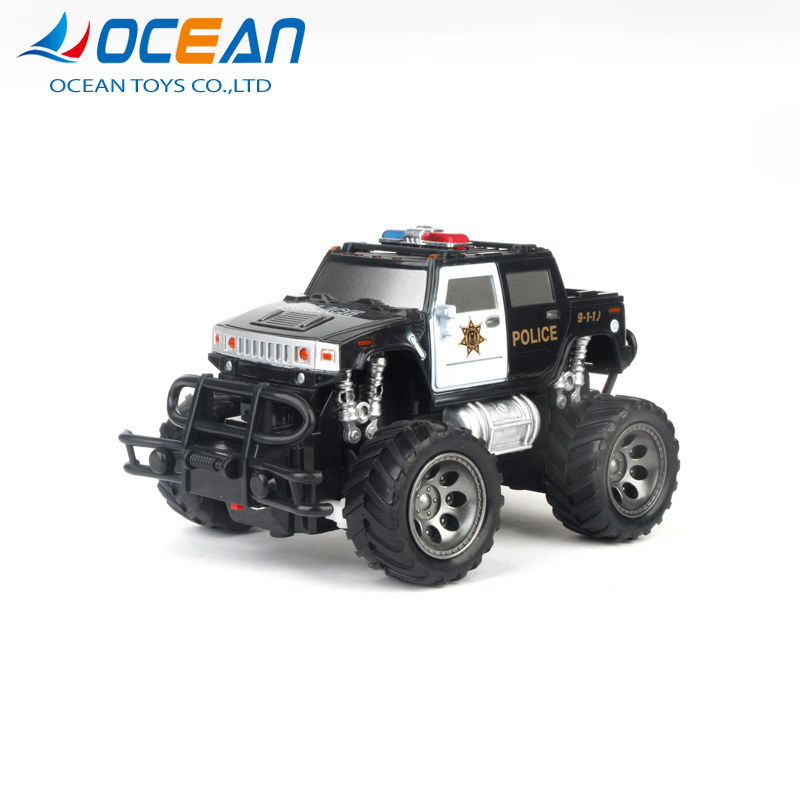 Off road high speed plastic remote control toys kids police car