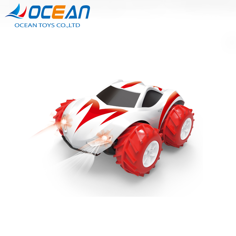 Red blue 2.4g land and water car stunt remote control with light