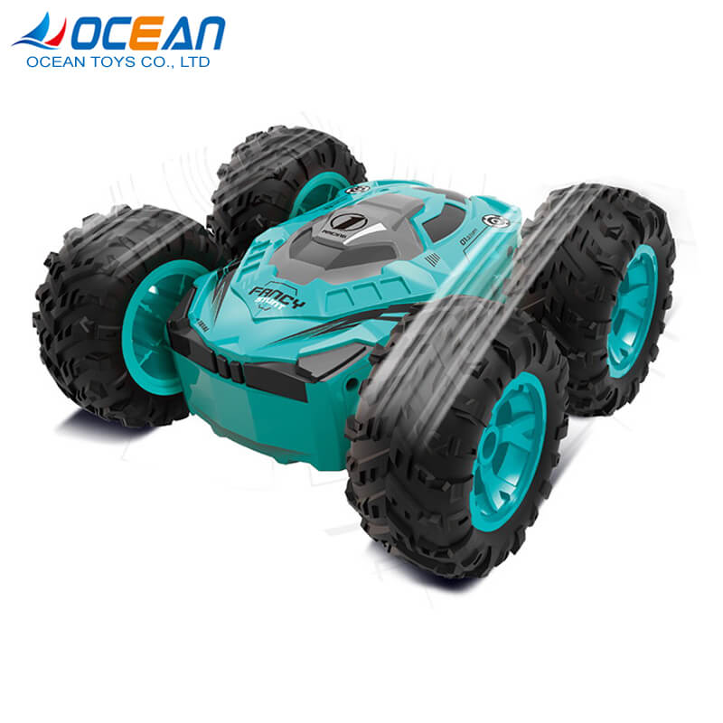2.4g double sided 360 fancy stunt rc car wholesale toy for kids