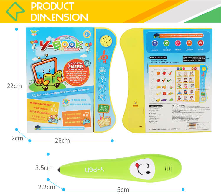 Educational English machine books kids learning toys manufacturer with song