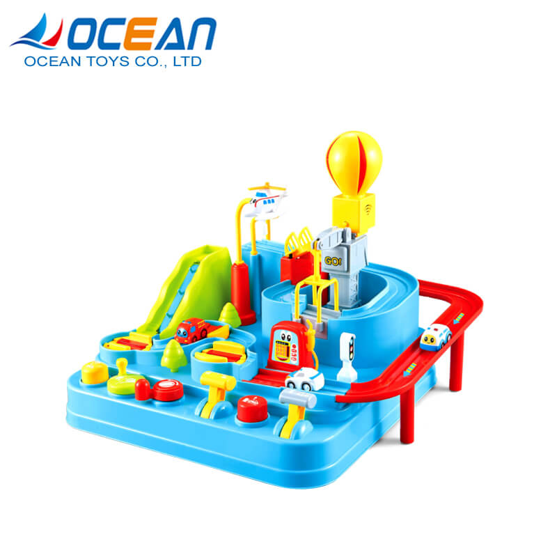 Factory rescue track car slot toys hobbies educational game for kids