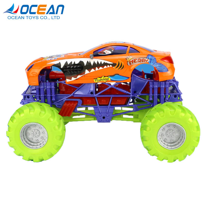 Wholesale four-wheel cool truck vehicle friction toy cars for boys
