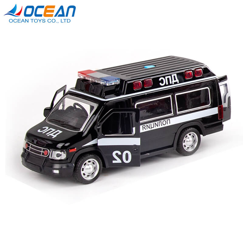 Pullback alloy metal diecast toy vehicles truck with sound light