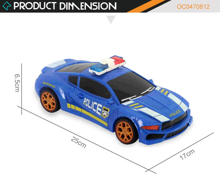 Two Forms Transform Police Car Robot Deformation Vehicle Toy Boy Gift