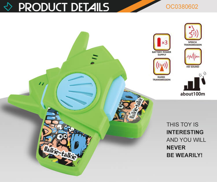 Novelty toys mobile baby walkie talkie toys 100m without current sound