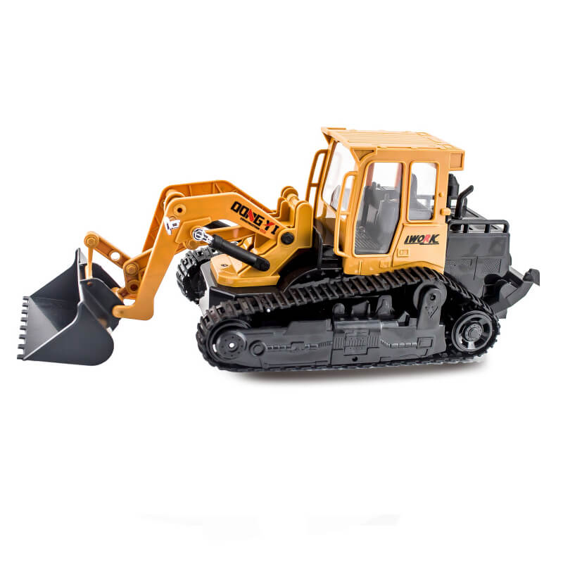 6CH 2.4G rechargeable model rc remote control bulldozer car with light music