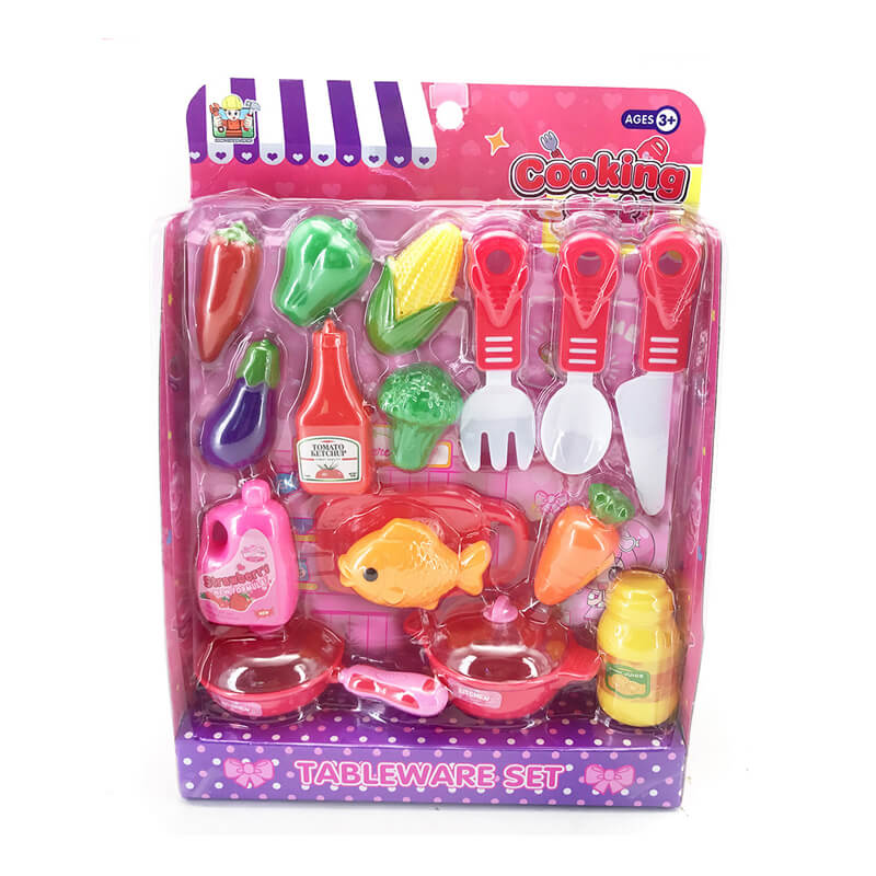 Newest beautiful prtetend play kitchen set cooking set for girl toys