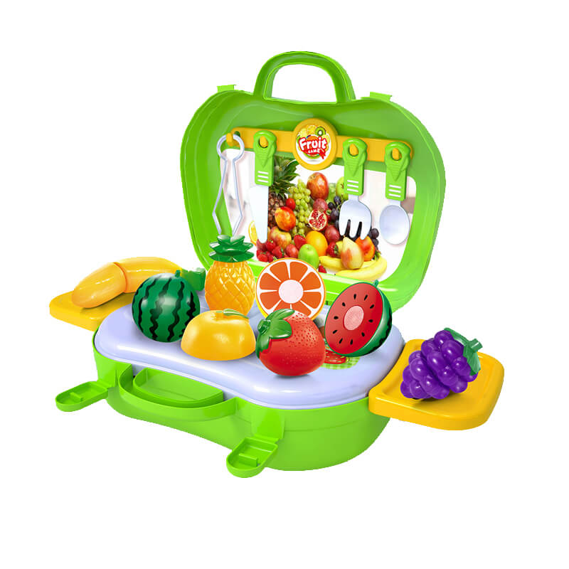 High quality 3in1 pretend play kitchen kids toys fruit vegetables game